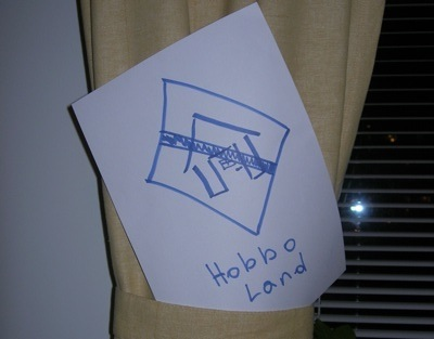 'Hobbo land' sign