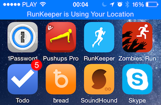 RunKeeper is Using Your Location